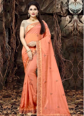 Organza Embroidered Work Classic Saree
