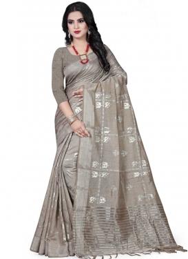 Art Silk Print Work Designer Contemporary Saree