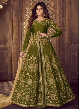 Shamita Shetty Trendy Designer Salwar Kameez For Party