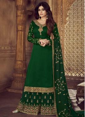 Shamita Shetty Faux Georgette Palazzo Style Pakistani Salwar Kameez