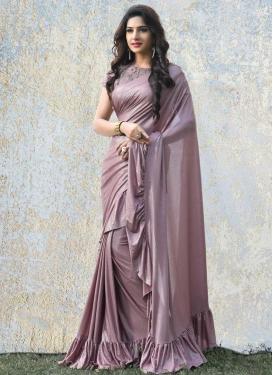 Lycra Trendy Designer Saree For Festival