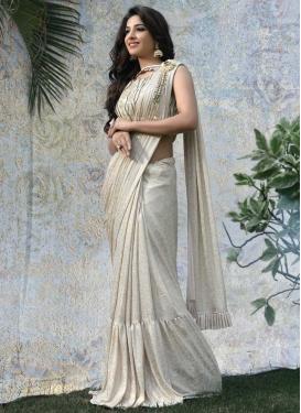 Lycra Designer Traditional Saree For Ceremonial
