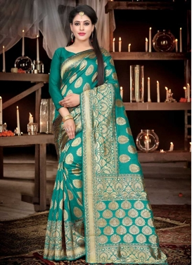 Thread Work Contemporary Saree For Ceremonial
