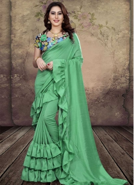 Digital Print Work Art Silk Traditional Designer Saree