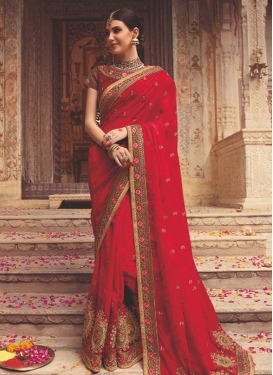 Satin Silk Classic Saree For Bridal