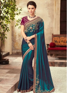 Satin Silk Traditional Designer Saree