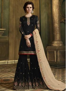 Faux Georgette Sharara Salwar Suit