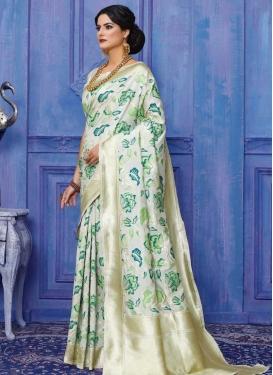 Thread Work Handloom Silk Classic Saree