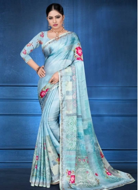 Satin Georgette Traditional Designer Saree For Festival