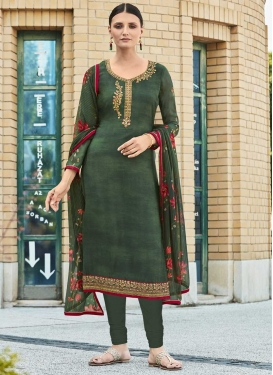 Crepe Silk Embroidered Work Trendy Pakistani Suit