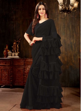 Lace Work Trendy Designer Saree
