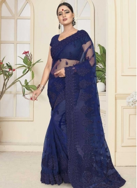 Net Contemporary Saree For Bridal