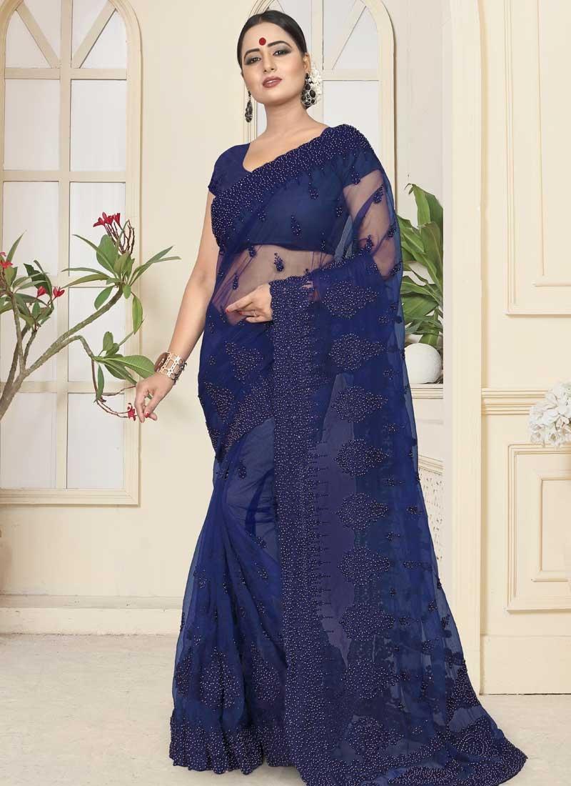 Net Contemporary Saree For Bridal