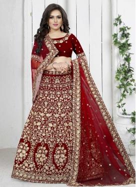 Velvet Trendy A Line Lehenga Choli