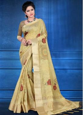 Jacquard Silk Digital Print Work Classic Saree