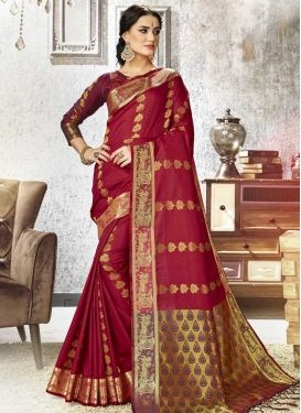 Kanjivaram Silk Thread Work Classic Saree