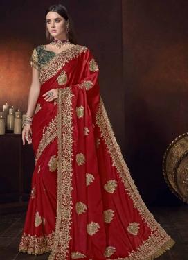Satin Silk Trendy Saree