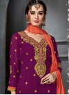 Embroidered Work Designer Palazzo Salwar Suit - 1