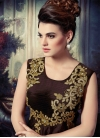 Groovy Mirror And Beads Work Readymade Anarkali Suit - 1