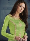 Silk Mint Green and Olive Pant Style Classic Suit - 1