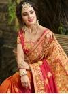 Satin Silk Beads Work Trendy Classic Saree - 1