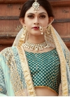 Lace Work Art Silk A Line Lehenga Choli - 1
