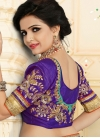 Transcendent Beads Work Net Designer Half N Half Saree For Ceremonial - 2