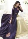 Cream and Purple Trendy Designer Salwar Kameez For Festival - 2