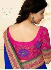 Intrinsic Blue Net Designer Traditional Saree - 2