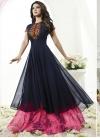Hot Pink and Navy Blue Designer Salwar Kameez For Festival - 2