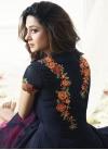 Hot Pink and Navy Blue Designer Salwar Kameez For Festival - 1