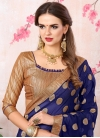 Beads Work Faux Georgette Trendy Saree - 1
