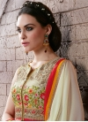 Piquant Floral Work Jacket Style Pakistani Salwar Kameez - 1