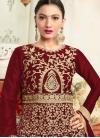 Gauhar Khan Silk Anarkali Salwar Kameez For Party - 1