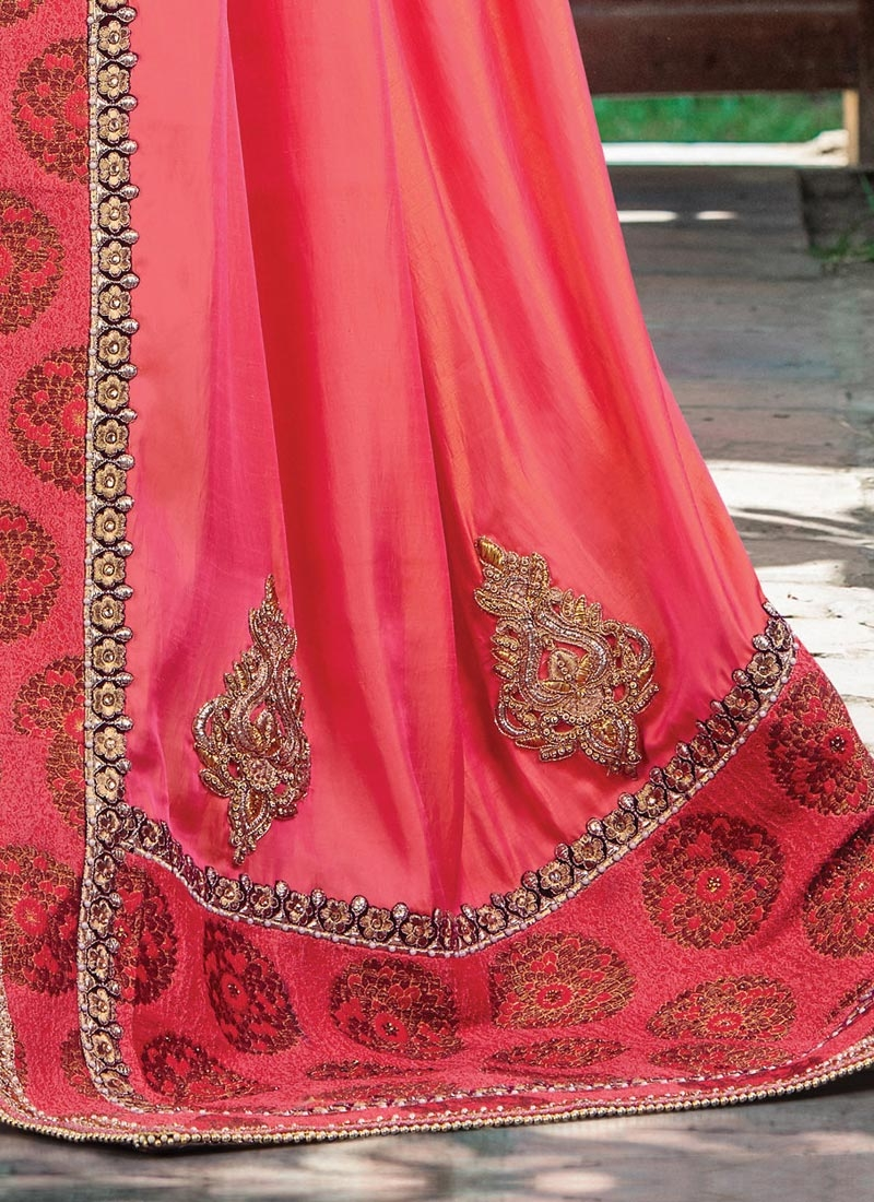 Shop Glowing Beads Work Traditional Designer Saree For