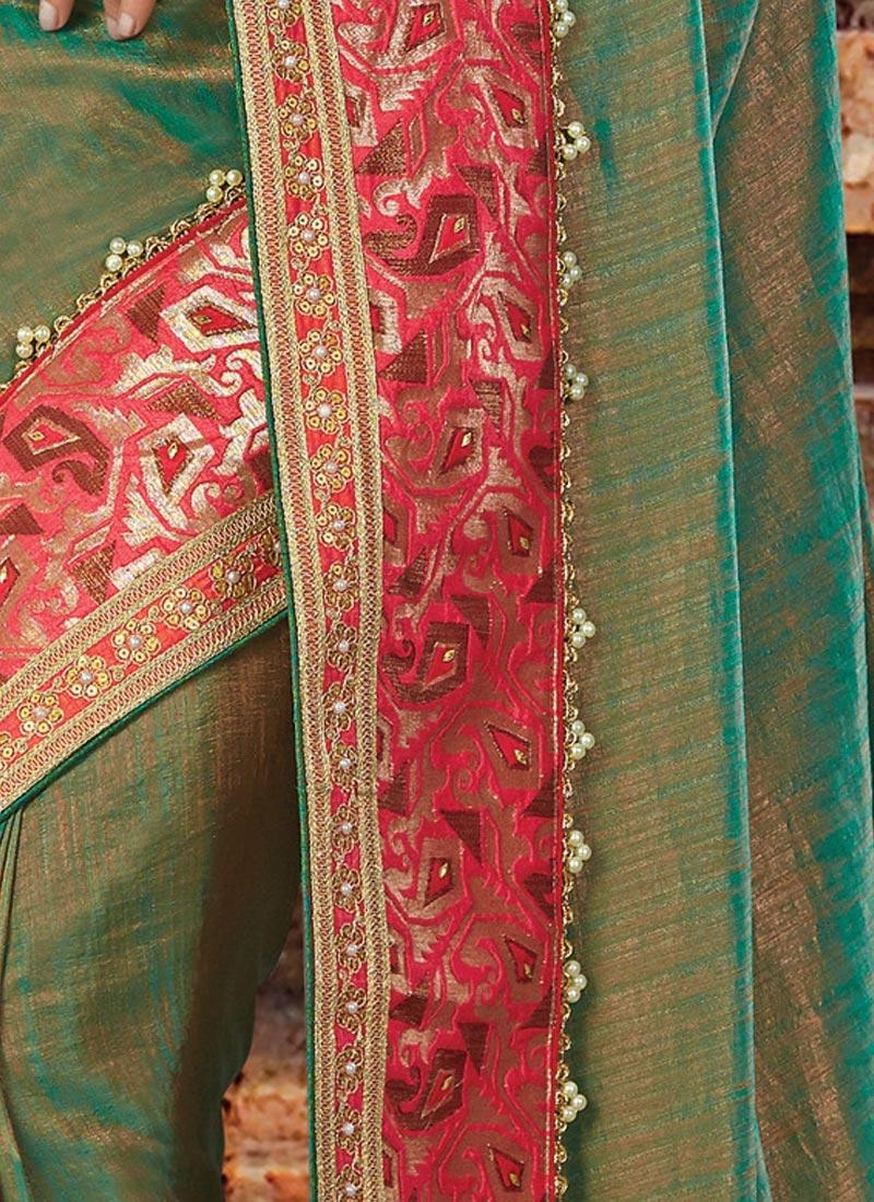 Shop Divine Beads Work Designer Traditional Saree For