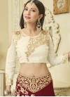 Cream and Crimson Gauhar Khan Designer Classic Lehenga Choli - 1