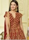Gauhar Khan Long Length Anarkali Salwar Suit For Festival - 1