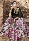 Faux Georgette Black and Rose Pink Designer Lehenga Choli - 1