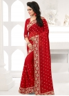 Embroidered Work Trendy Saree For Festival - 1