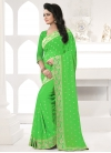 Faux Georgette Embroidered Work Contemporary Style Saree - 1