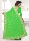 Faux Georgette Embroidered Work Contemporary Style Saree - 2