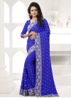 Faux Georgette Traditional Saree - 1