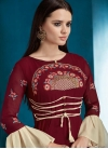 Faux Georgette Embroidered Work Readymade Classic Gown - 1