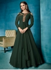 Embroidered Work Readymade Designer Gown - 1