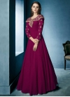 Faux Georgette Readymade Floor Length Gown For Festival - 1