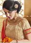 Modern Pure Georgette And Net Half N Half Wedding Saree - 1