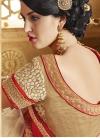Modern Pure Georgette And Net Half N Half Wedding Saree - 2
