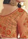 Simplistic Floral Work Half N Half Wedding Saree - 2