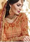 Simplistic Floral Work Half N Half Wedding Saree - 1